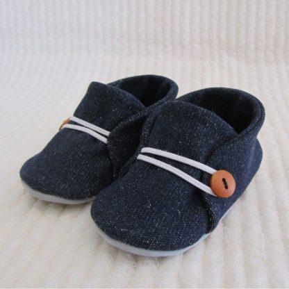 Blue Denim Baby soles