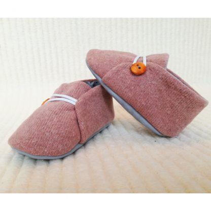 Deep Puce Baby soles